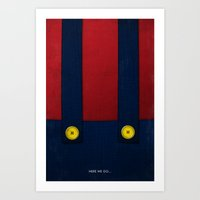Video Game Poster: Plumber Art Print