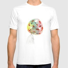 Swimming in my own thoughts Mens Fitted Tee White SMALL