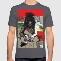 Basquiat Mens Fitted Tee Asphalt SMALL