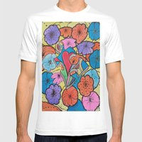 AUTISM OF PEACE AND LOVE Mens Fitted Tee White SMALL
