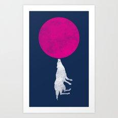 Bubble Moon Art Print