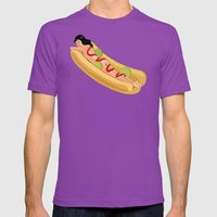Hot Dog Girl Mens Fitted Tee Ultraviolet SMALL