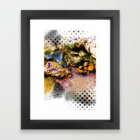 I Heart Rocks Framed Art Print
