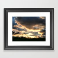Clouds On Fire Framed Art Print