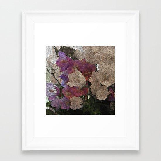 Campanulas Framed Art Print