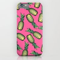 iPhone Cases featuring Pineapple Pattern by Georgiana Paraschiv