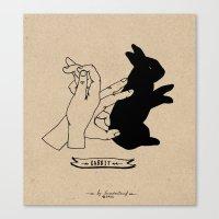 Hand-shadows Mr rabbit Canvas Print