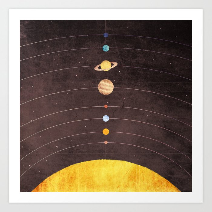 Sunday's Society6 | Space solar system planet art print