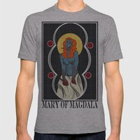 Mary of Magdala Mens Fitted Tee Athletic Grey SMALL