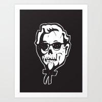 Skull Sanders Art Print