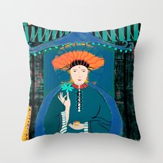 Goddess of the Night Throw Pillow