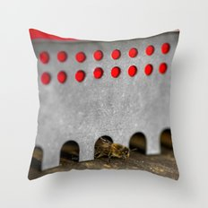 The Bee has the entry of the hive Throw Pillow