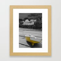 little yellow boat Framed Art Print