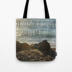 The Ocean is Calling Tote Bag