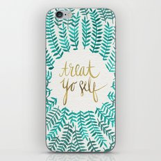 Treat Yo Self – Gold & Turquoise iPhone & iPod Skin