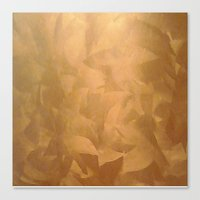 Brushed Copper Metallic Canvas Print