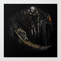 Gravelord Nito - Dark Souls (black tee PNG edition) Canvas Print