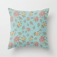 Mantón Azul Throw Pillow