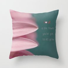 Let Love Grow Throw Pillow