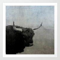 The Lumbering Beast  Art Print