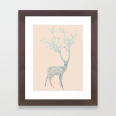 Blue Deer Framed Art Print