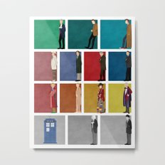 Doctor Who? Metal Print