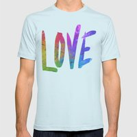 Just Love Mens Fitted Tee Light Blue SMALL