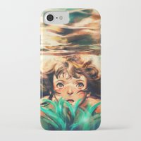 rock iPhone & iPod Cases featuring The River by Alice X. Zhang