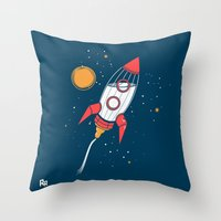 Bottle Rocket To The Mil… Throw Pillow