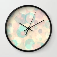 Pastel Geometric Pattern No 1  Wall Clock