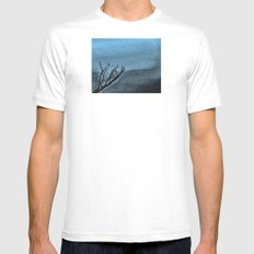 Hunted Branch SMALL White Mens Fitted Tee