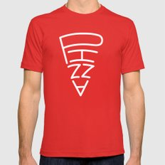 pizza to go Mens Fitted Tee Red SMALL