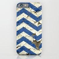 Peeling Chevrons Blue iPhone 6 Slim Case