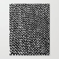 Hand Knitted Black S Canvas Print