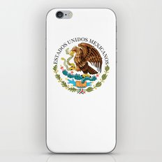 Coat of Arms & Seal of Mexico on white background iPhone & iPod Skin