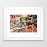 Money Framed Art Print