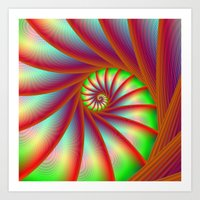 Staircase Spiral In Oran… Art Print