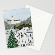 Ice skating pond Stationery Cards
