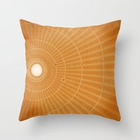 Solar System Hot Throw Pillow