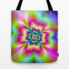 Psychedelic Four Leaf Clover  Tote Bag
