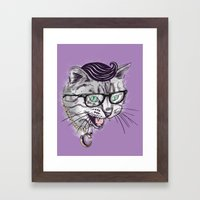 The Upper East Side Dagger Cats Framed Art Print