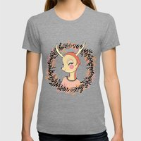 My Deer Womens Fitted Tee Tri-Grey SMALL