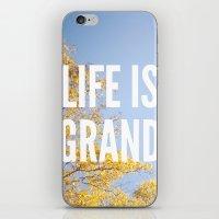 Life Is Grand. iPhone & iPod Skin