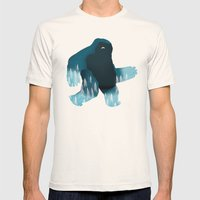 Yeti at Night Mens Fitted Tee Natural SMALL