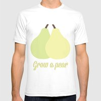 Grow A Pear Mens Fitted Tee White SMALL
