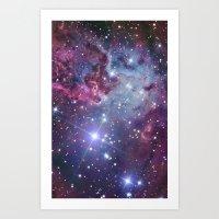 galaxy Art Prints featuring Nebula Galaxy by RexLambo