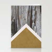 Wooded Chevron Stationery Cards