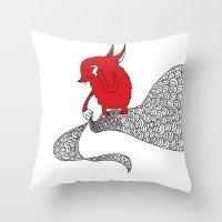 Flying Fox Throw Pillow