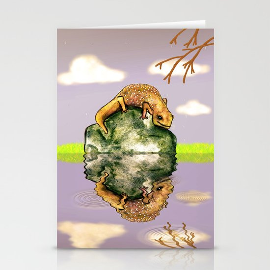 Reflect upon yourself on a rainy day  Stationery Card