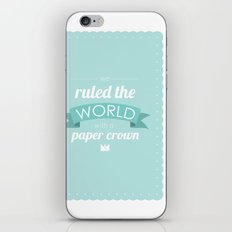 Paper Crown iPhone & iPod Skin